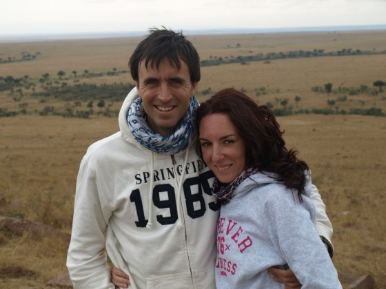 Cristina y Aitor en el Masai Mara. Por Udare