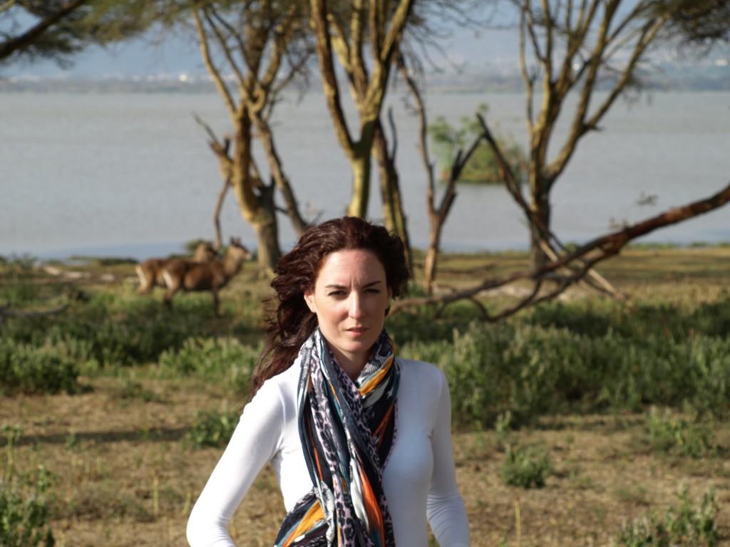Cristina en Crescent Island. Por Udare