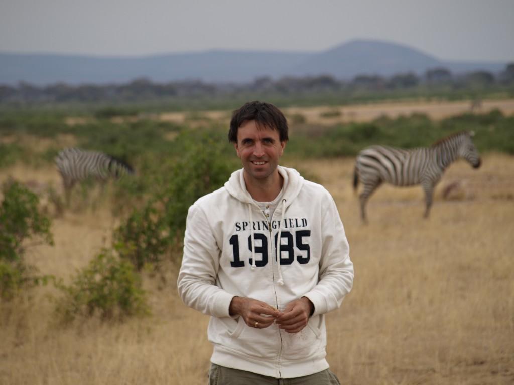 Aitor en Amboseli. Por Udare