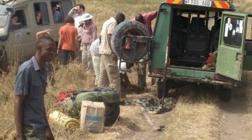 Reparación de vehículo en Serengeti. Por Udare