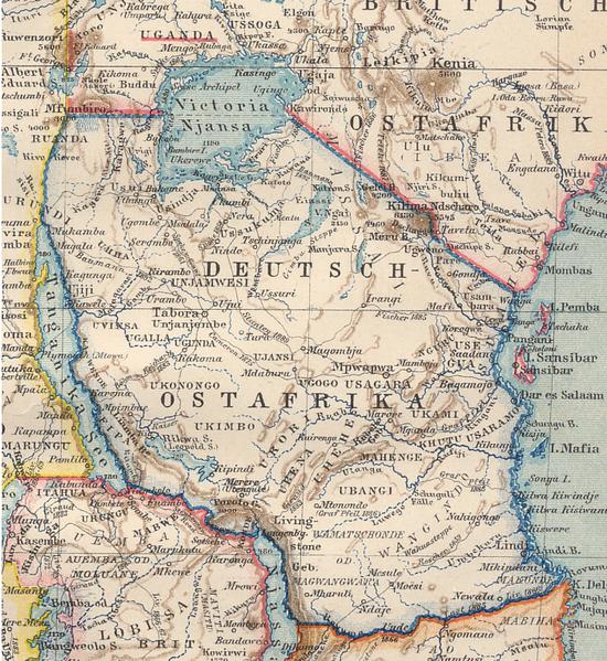 Tanzania colonial. Por Wikipedia