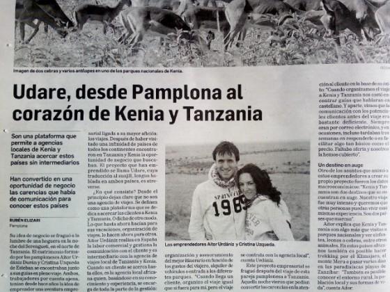 Diario de Navarra. 13-04-2014. Por Udare