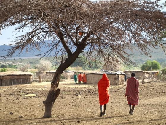 Poblado masai. Por Udare