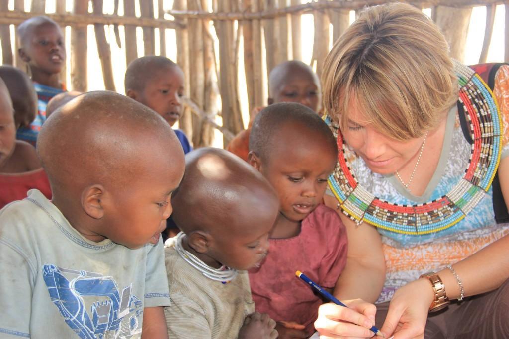 Visitando boma Masai. Por Irene