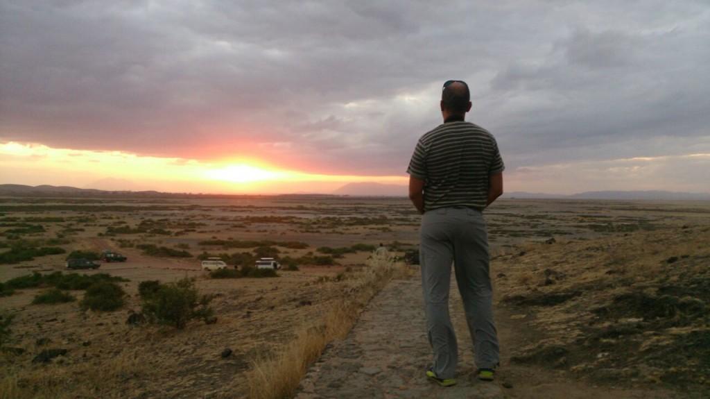 Atardeciendo en Amboseli. Por David P.