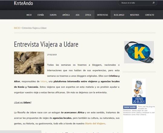 Entrevista KrrteAndo. Por Udare