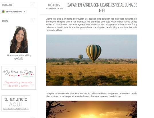 Udare en www.lasbodasdemarta.com