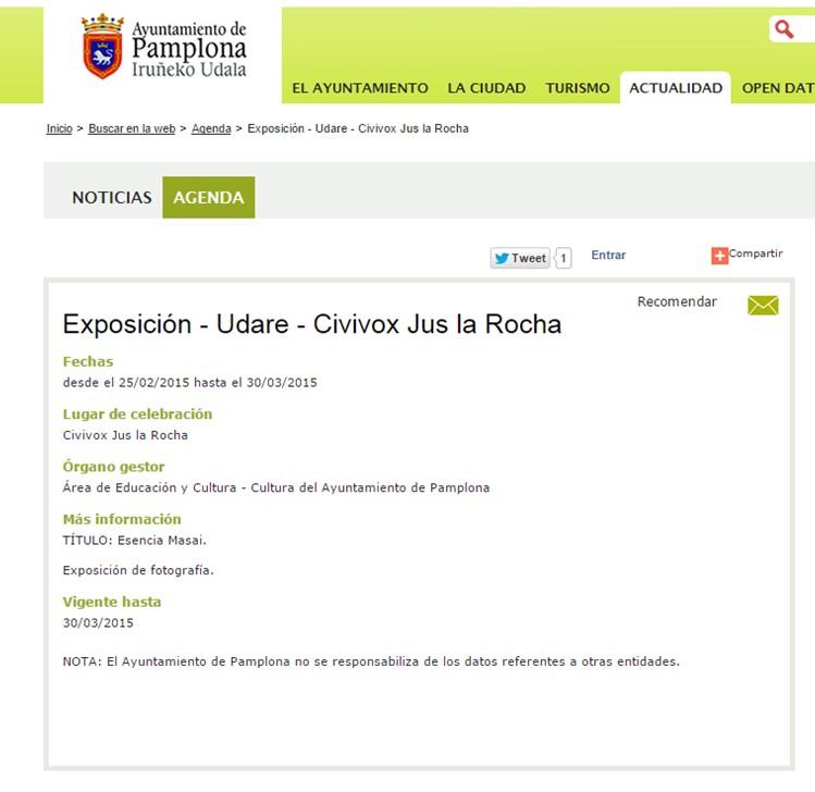 Exposición Pamplona. Por Udare