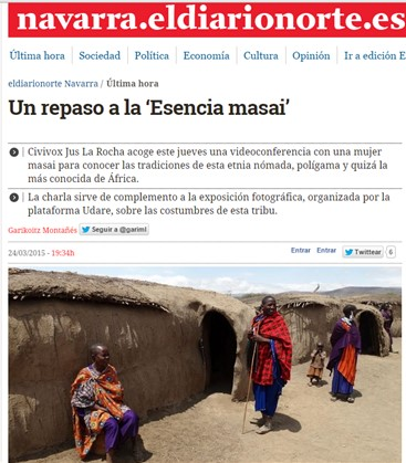 """Tertulia """"Esencia Masai"""" en diario.es"""