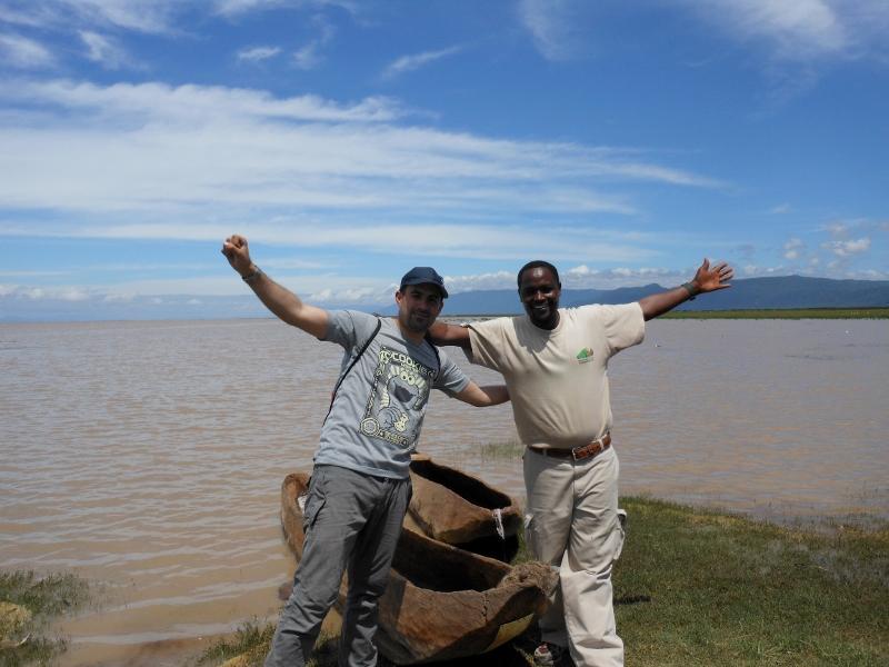 Junto al lago Manyara. Por José Antonio