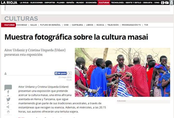 Exposición esencia Masai en larioja.com