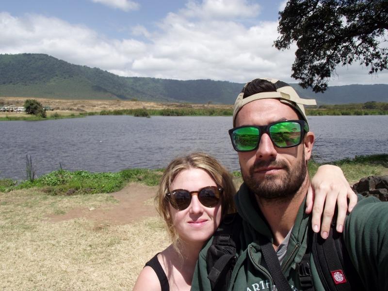 Lago de Ngorongoro en la hora del picnic. Por Lucía