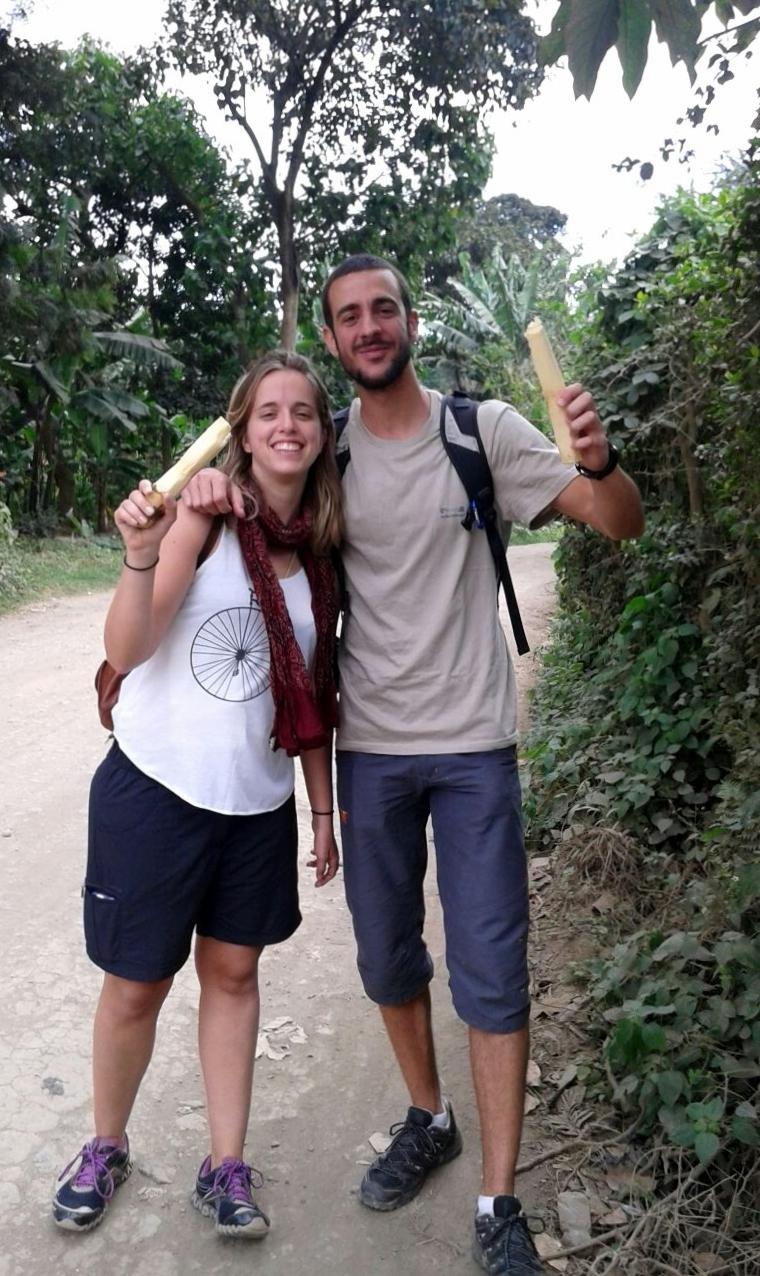 Visitando plantaciones de banana. Por Colleta