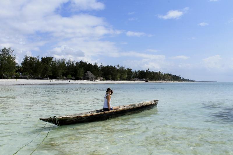 Alba en una embarcación local en Zanzíbar. Por Jacob