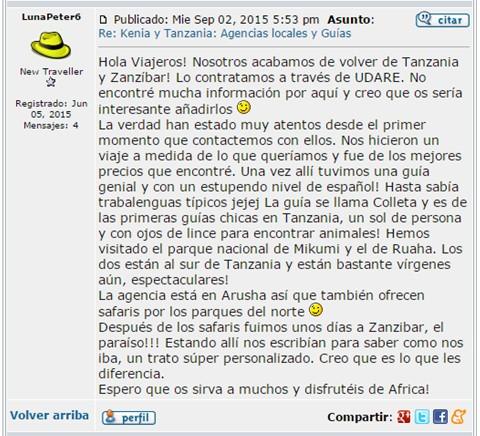 Opinión de Alba en www.losviajeros.com