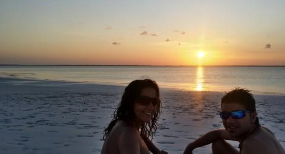 Rubén y Marta en Zanzibar. Por Rubén