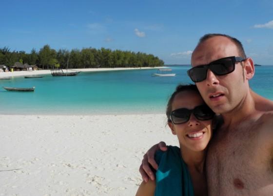 Sandra y José Luis en Zanzibar. Por José Luis