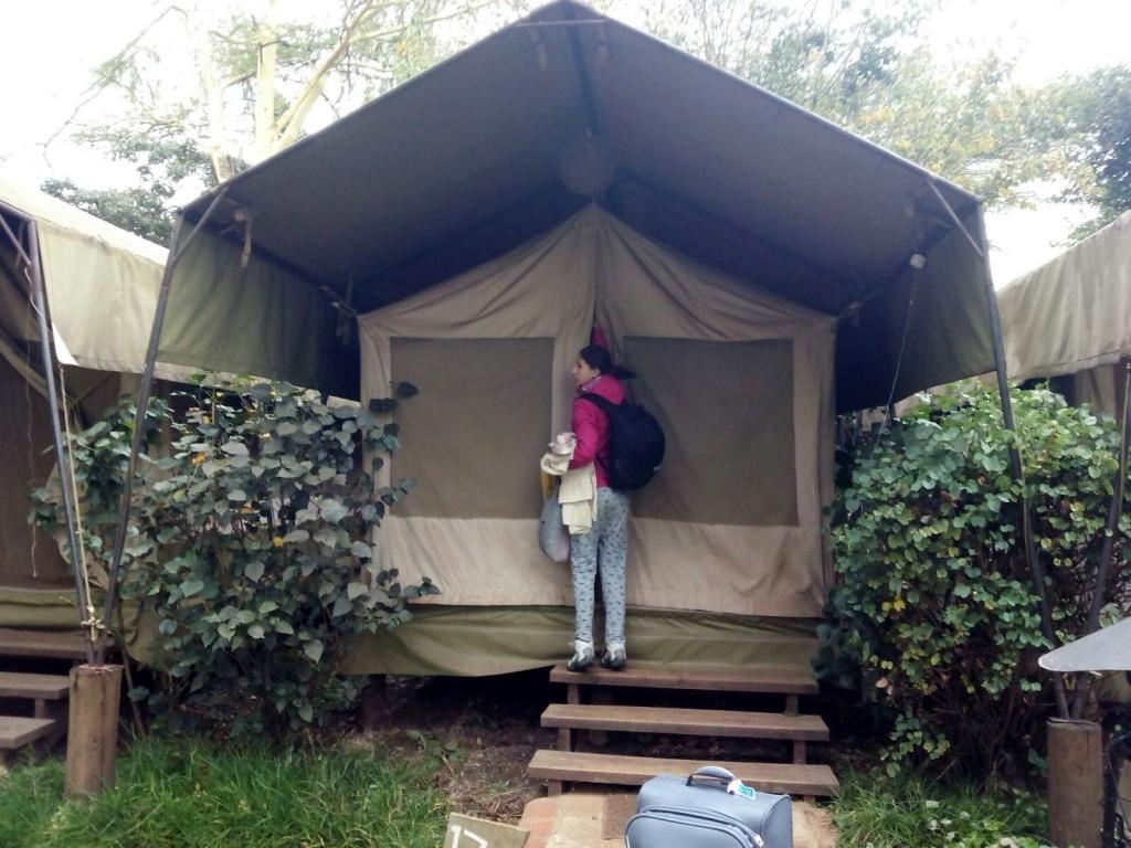 Llegando a la tienda (tent) en Masai Mara. Por Marta