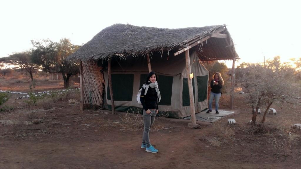 Campamento en Amboseli. Por Diana
