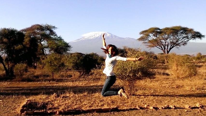 Marta en Amboseli. Por Marta