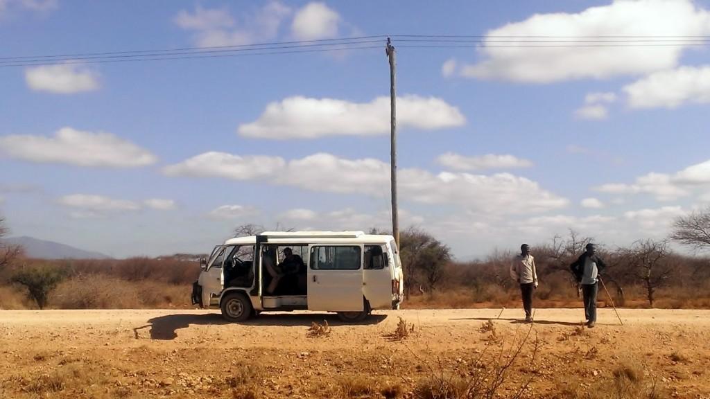 Un alto en el camino hacia Masai Mara. Por Beatriz