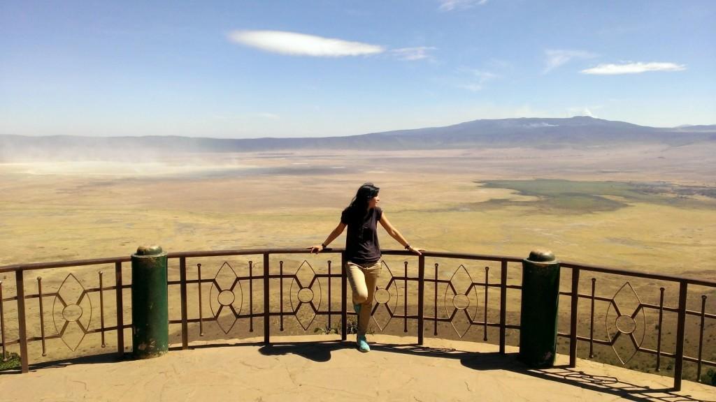 En el mirador del Ngorongoro. Por Marta