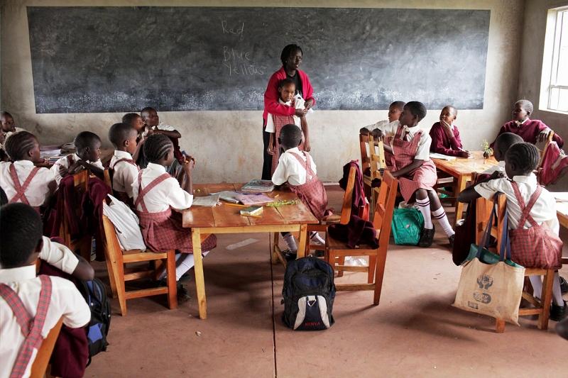 Kakenya en un aula del centro. voices.nationalgeographic.com