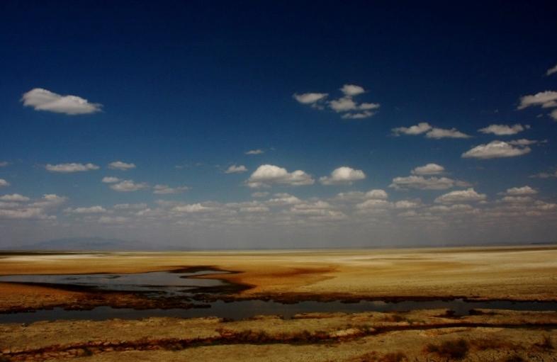 Lago Manyara en época seca. Por Santiago