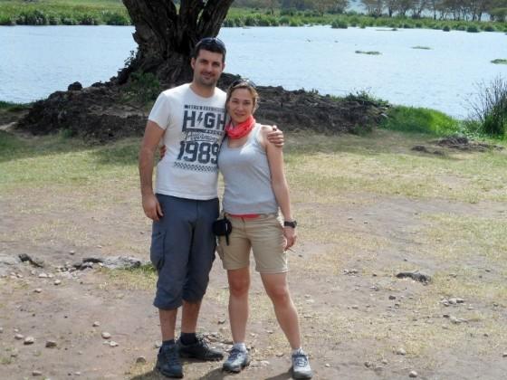 Eduardo y Carolina en Ngorongoro. Por Eduardo
