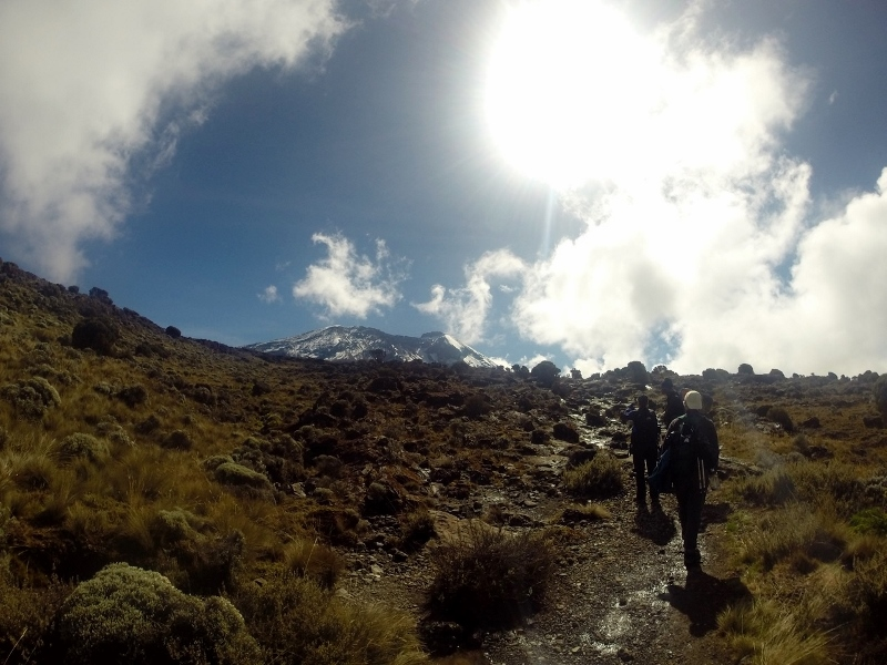 Instante de un trekking. Por Carlos