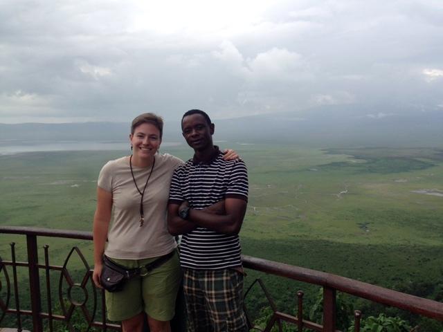 Marta y Gregory en Ngorongoro. Por Marta