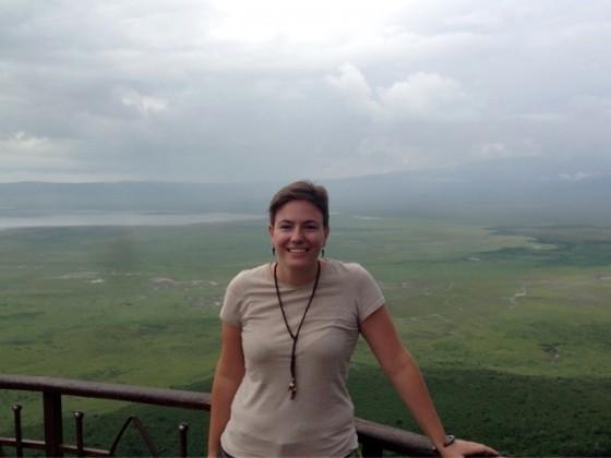 Marta en Ngorongoro. Por Marta