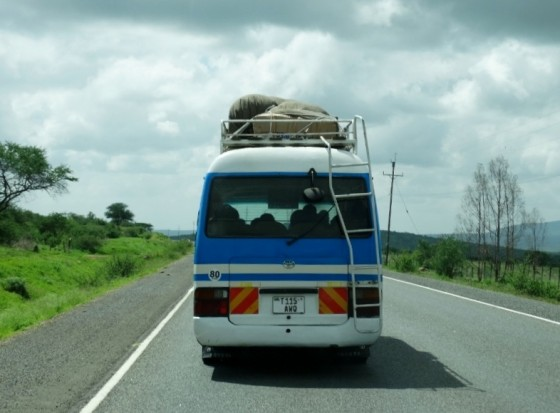Viajando en Shuttle bus. Por Udare