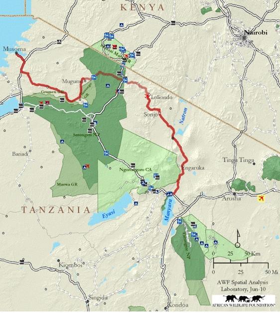 Mapa parques del norte. Por AWF