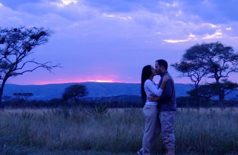 Anochece en Serengeti. Por Mariana