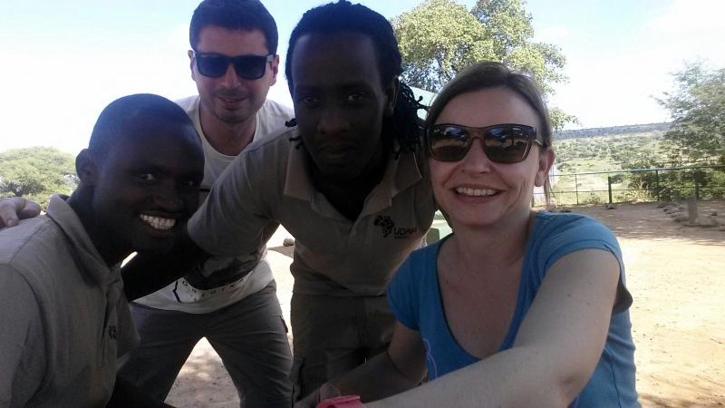 Eli, Pablo, Bruno y Encarna, foto de equipo. Por Encarna