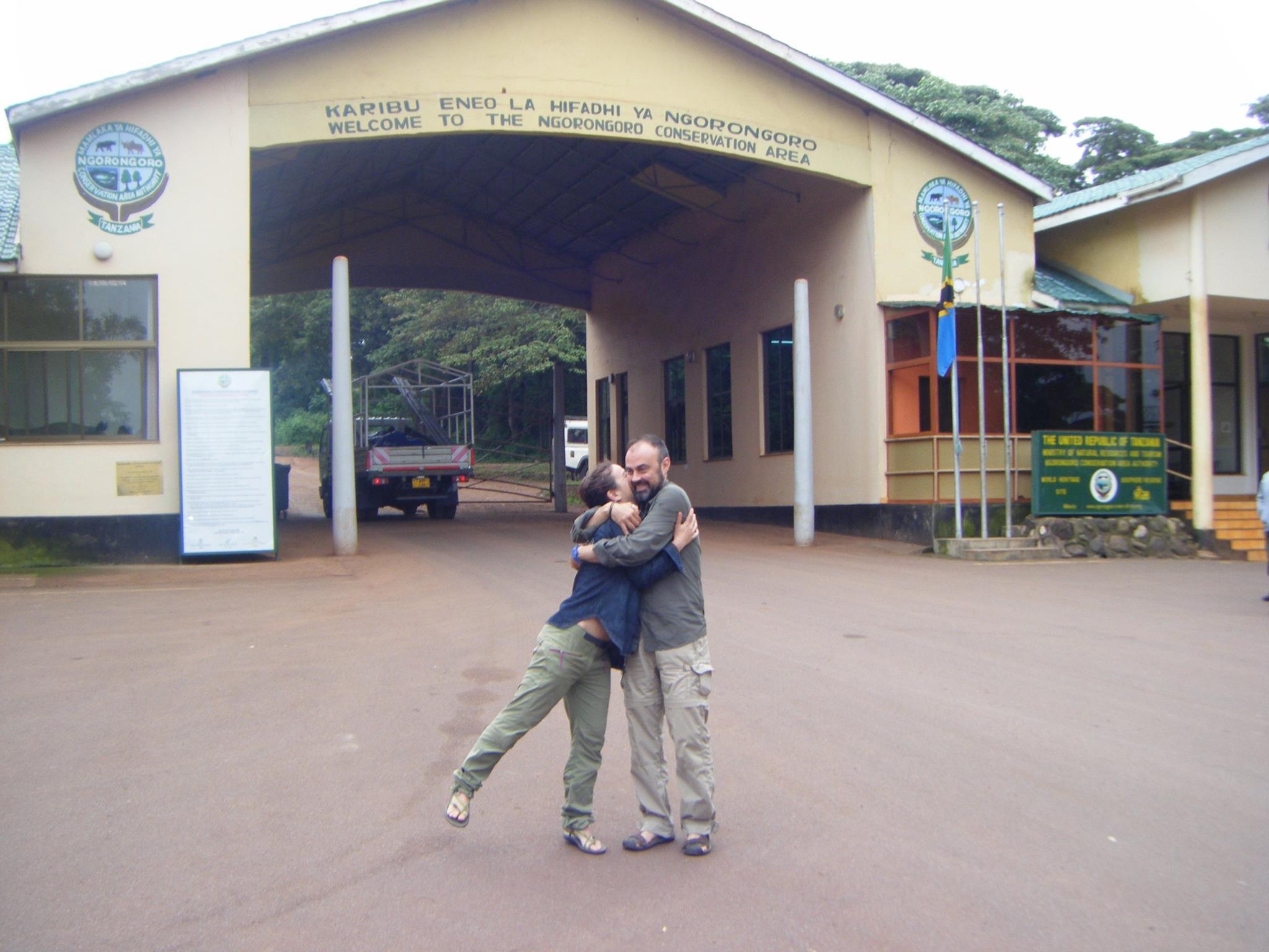 La entrada a Norongoro, un momento para el recuerdo. Por Raquel