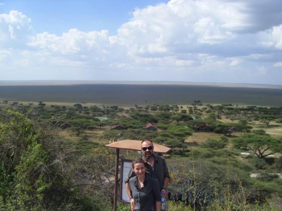 Raquel y Carlos en Serengeti. Por Raquel