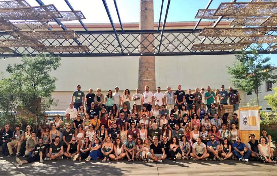 Miembros de la Asociación de Barcelona Travel Bloggers. Por Udare