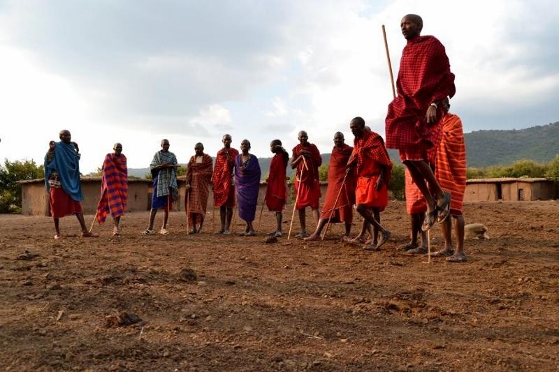 Visita a poblado masai. Por Bea