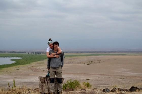 Bea e Ibai en Amboseli. Por Bea