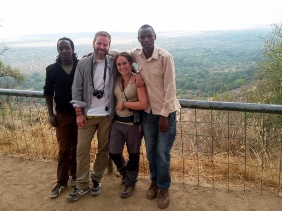 Bruno, Robert, Lidia y Lázaro vistas a Manyara. Por Lidia