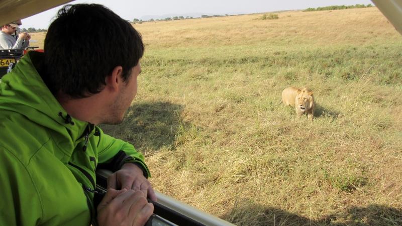 Disfrutando del safari. Por Charo