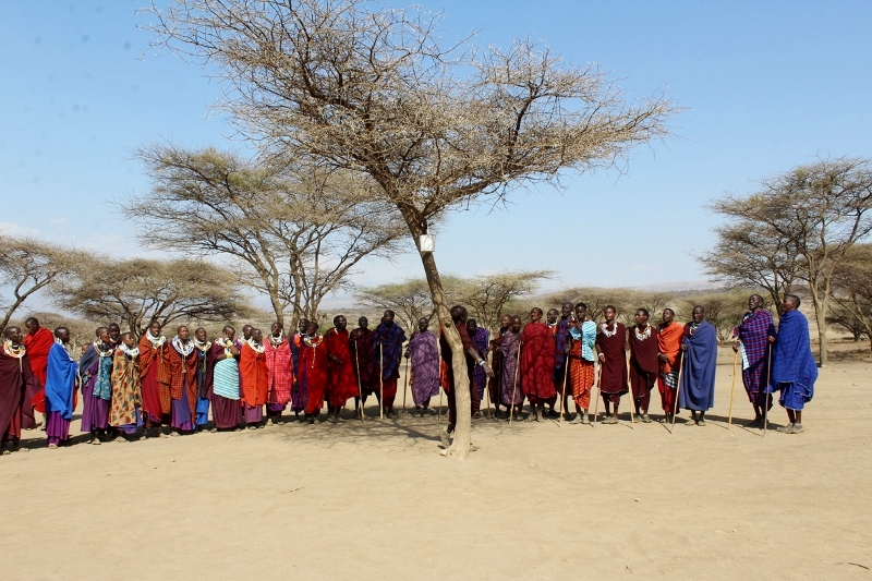 Visitando un poblado masai. Por Natalia