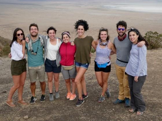 Foto de grupo en Ngorongoro. Por María