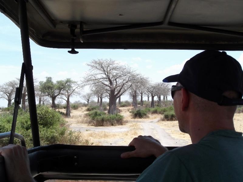 Panorámica durante el safari. Por Angeles