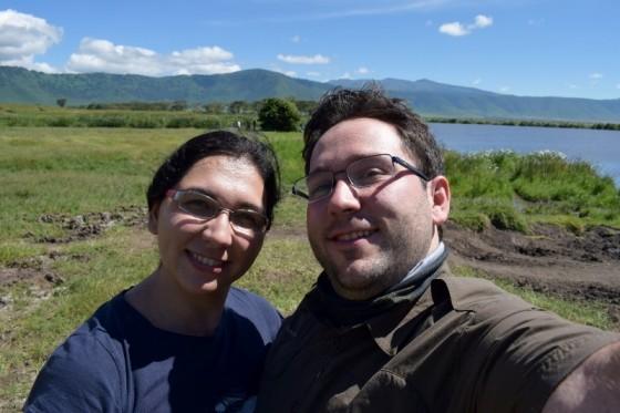 Emilio y Ester en Ngorongoro. Por Emilio