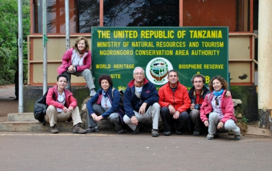 Foto de grupo en Ngorongoro. Por Gema