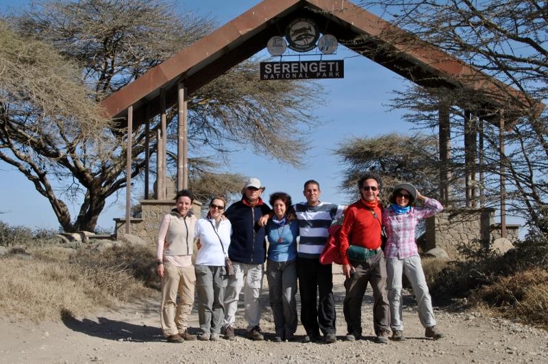 Foto de grupo en Serengeti. Por Gemma