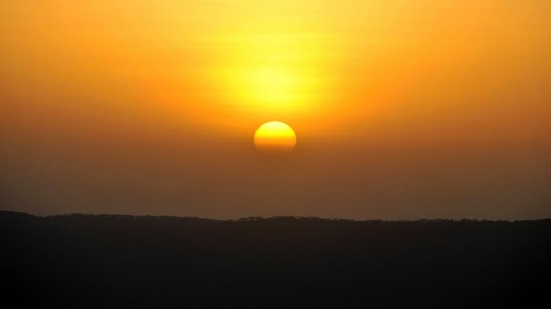 Puesta de sol en Ngorongoro. Por Gemma